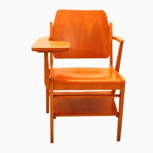 Vintage Austrian Writing Armchair Designed by Franz Schuster for Wiesner-Hager