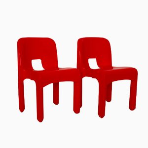 Model 4860 Universale Plastic Chairs by Joe Colombo for Kartell, 1960s, Set of 2