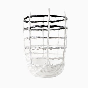Hot Mess Vessel - Black and White Grid Bowl - by Tanner Bowman