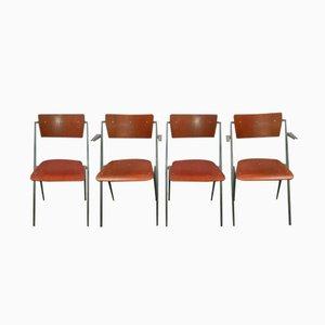Pyramiden Stühle von Wim Rietveld für Ahrend de Cirkel, 1964, 4er Set