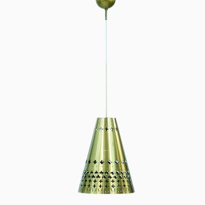 Brass Pendant Lamp by Hans Bergström for Ateljé Lyktan, 1950s