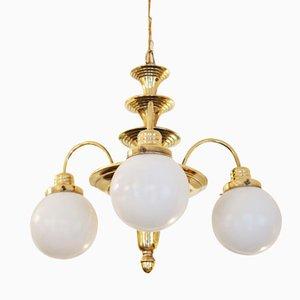 Art Deco Brass Chandelier