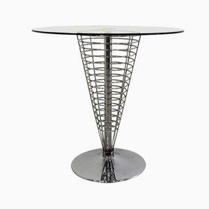 Kegelförmiger Metallgitter Tisch von Verner Panton für Fritz Hansen