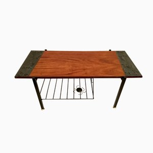 Teak and Iron Coffee Table