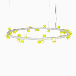 LEDS Clay Pendant Ring Light by Bertjan Pot and Maarten Baas