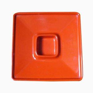 Aschenbecher aus Keramik in Orange von Angelo Mangiarotti für F.lli Brambilla, 1968