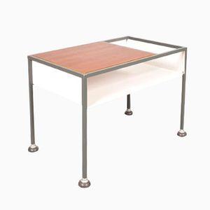 Industrieller Vintage Tisch auf Rollen aus Teakholz & Metall von Tomado