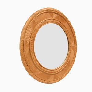 Large Scandinavian Wall Mirror by DUX, 1970s