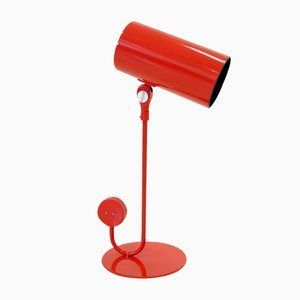 Red Table Lamp from Ateljé Lyktan, 1960s