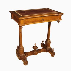 Antique Italian Carved Cherry Desk