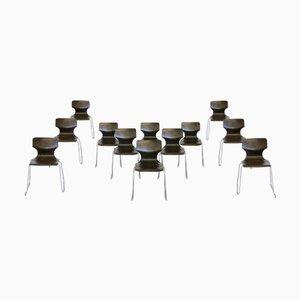Chaises Empilables de Galvanitas, Pays-Bas, 1970s, Set de 14