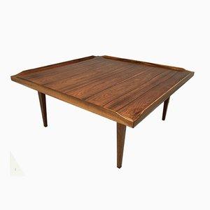Table Basse Carrée en Palissandre, Danemark, 1960s