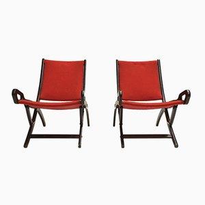 Chaises Longues Ninfea par Gio Ponti pour Fratelli Reguitti, 1958, Set de 2