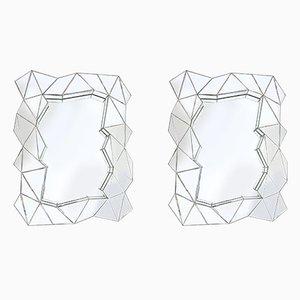 Geometrische Spiegel, 1970er, 2er Set