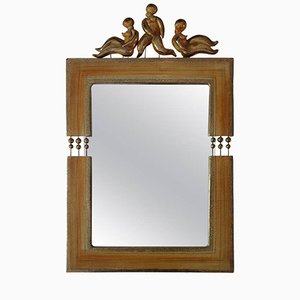 French Ceramic Mirror by Georges Pelletier, 1960