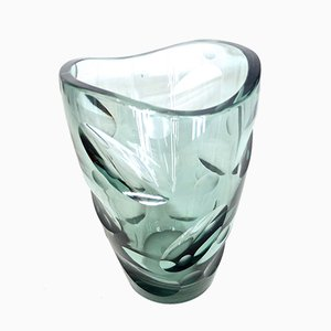 Vintage Glass Vase by Erich Jachmann for WMF