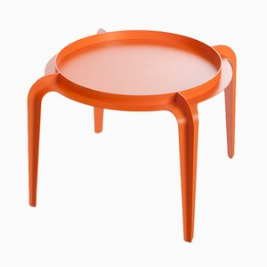 Hafucha Circle Table in Orange by Bakery Studio