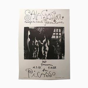 Picasso Barcelona Ausstellungsplakat, 1970