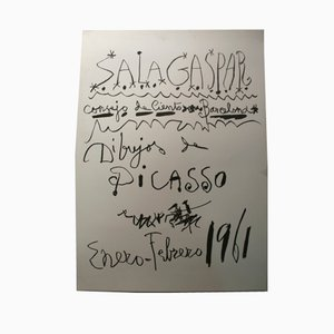 Poster Barcelona avec Ecritures de Picasso, 1961