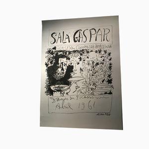 Großes Barcelona Poster mit Picasso Zeichnungen, 1961