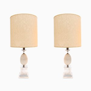 Modernist Table Lamps by Maison Barbier, 1970s, Set of 2
