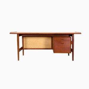 Dänischer Schreibtisch aus Teak & Rattan von Arne Vodder für Sibast