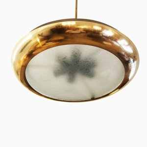 Large Bauhaus Pendant by Josef Hurka for Napako, 1938