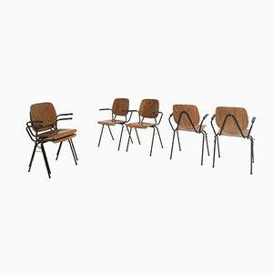 Chaises Empilables, Modèle 305, par Kho Liang le pour CAR, 1963, Set de 10