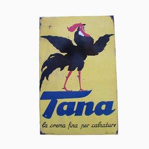 Industrielles Vintage Tana Schild, 1950