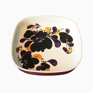Vintage Square Faience Plate by Ivan Weiss for Royal Copenhagen