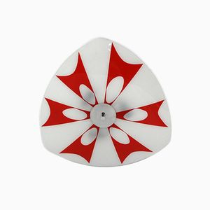 Hängelampe aus Glas is Rot & Weiß von Napako