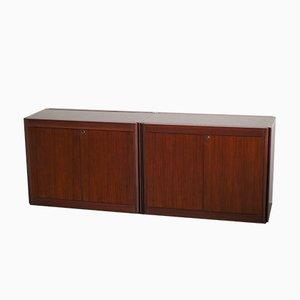 Modell 4D Sideboards von Angelo Mangiarotti für Molteni, 2er Set