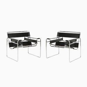 Wassily Chairs by Marcel Breuer for Gavina, 1960s, Set of 2