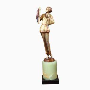 Statue Art Déco Bronze par Joseph Lorenzl, 1925