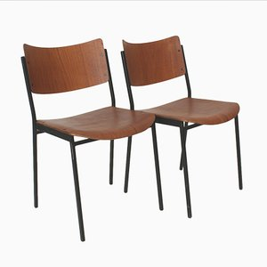 Teak Dining Chairs, 1960s, Set of 2