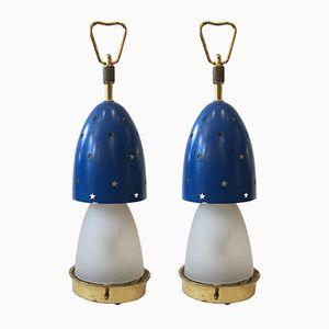 Stelline Tischlampen von Angelo Lelli für Arredoluce, 1950er, 2er Set