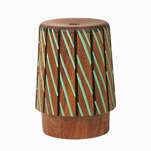 Sefefo Color Series Stool with Painted Trim by Patricia Urquiola for Mabeo