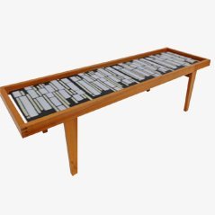 German Mid-Century Ceramic Tile Coffee Table