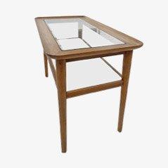 Walnut Two Tier Side Table, 1950s