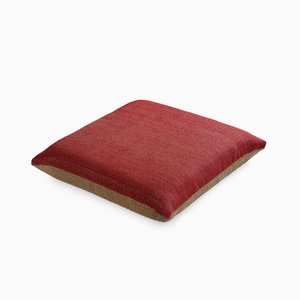 Paper/Nylon Cushion in Red & Natural by Trine Ellitsgaard
