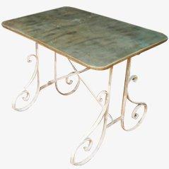 Garden Table with Zinc Top