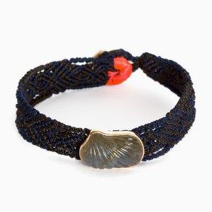 Carved Labrodite Mexican Bracelet by Sara Beltrán