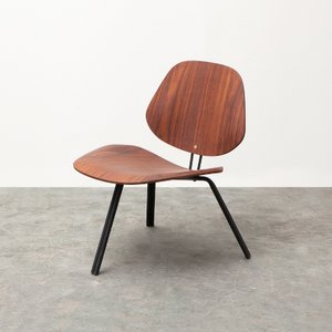Low P31 Chair in Rosewood by Osvaldo Borsani for Tecno
