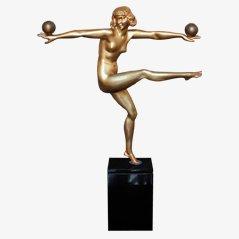 Statue Art Déco en Bronze par Bouraine, France, 1925s