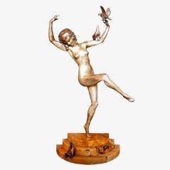 Statue Art Déco en Bronze par Marcel-Andre Bouraine, 1925s