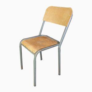 Wood & Metal School Chair, 1950s