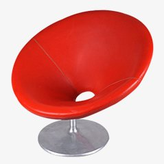 Hungarian Red Club Chair, 1960s