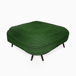 Green Corocora Square Pouf by Ceci Arango