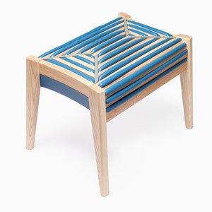 Tabouret 75 % Control Rectangular Stool, Turquoise par Dafi Reis Doron