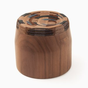 Walnut CAD Weaving Jar #1 by Dafi Reis Doron